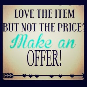 (you can also bundle items) comment an offer